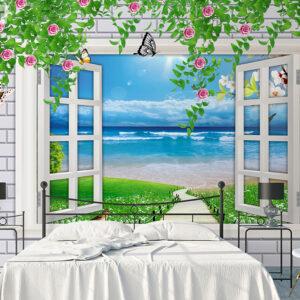 پوستر دیواری پنجره رو به دریا DP-1004