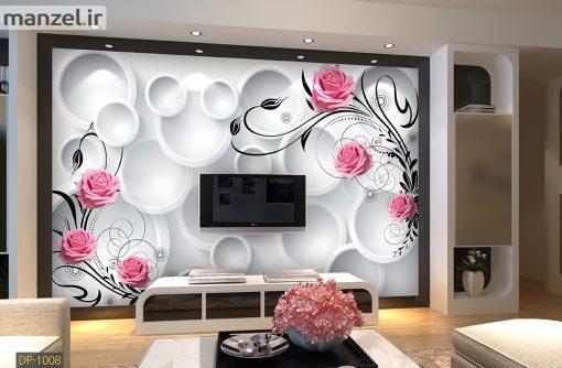 پوستر دیواری طرح گل رز فانتزی DP-1008
