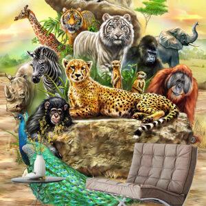 پوستر دیواری نقاشی حیوانات DP-1010
