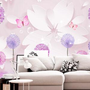 پوستر دیواری قاصدک و پروانه DP-1019