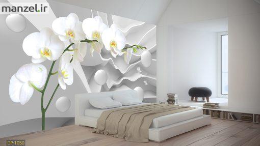 پوستر دیواری اشکال هندسی و گل DP-1050