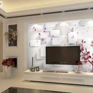 پوستر دیواری گل و اشکال هندسی DA-1051
