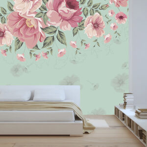 پوستر دیواری گل فانتزی صورتی DP-1060