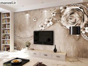 پوستر دیواری گل فانتزی و جواهرات DA-1061