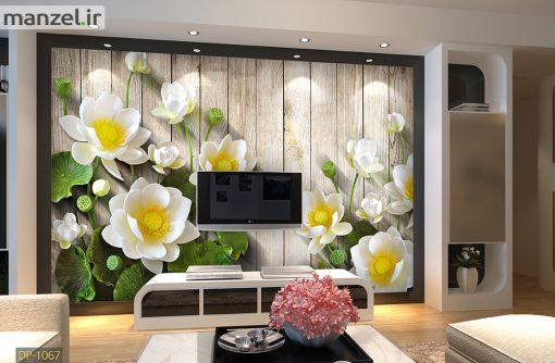 پوستر دیواری گل و چوب DP-1067