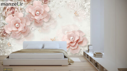پوستر دیواری گل و مروارید DP-1072