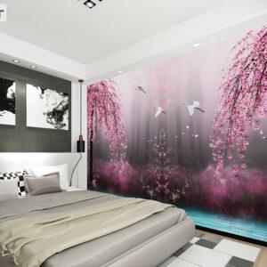 پوستر دیواری شکوفه و لک لک DP-1079