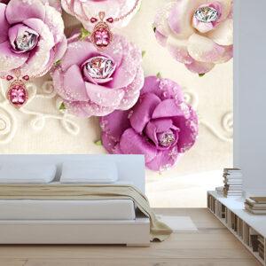 پوستر دیواری گل و حلقه ازدواج DP-1083