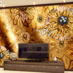 پوستر دیواری گل فانتزی طرح کلاسیک DP-1086