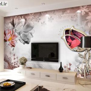 پوستر دیواری گل فانتزی و یاقوت DP-1087
