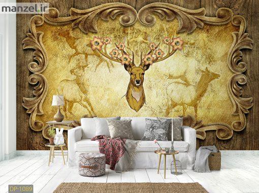 پوستر دیواری لاکچری طرح گوزن DP-1089