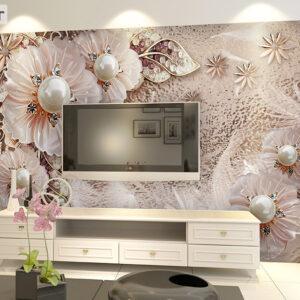پوستر دیواری مروارید و گل فانتزی DP-1090