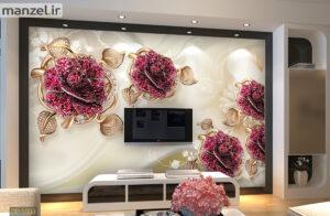پوستر دیواری جواهرات طرح گل DP-1093