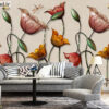 پوستر دیواری گل رز طبیعی DP-1091