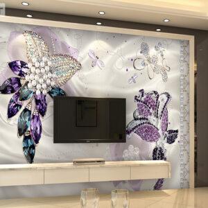 پوستر دیواری جواهرآلات طرح گل DP-1095