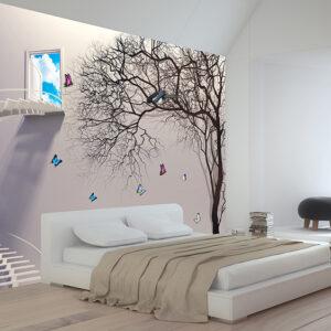 پوستر دیواری پنجره و درخت DP-1096