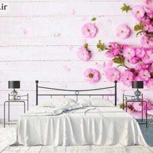 پوستر دیواری گل روی چوب DA-1115