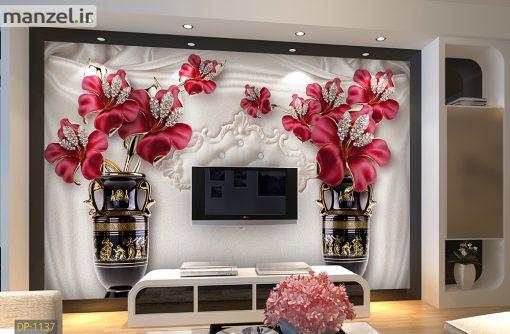 پوستر دیواری گل و گلدان DP-1137