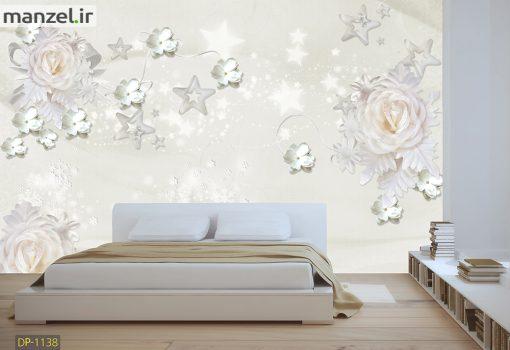 پوستر دیواری گل و ستاره DP-1138