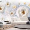 پوستر دیواری گل فانتزی بنفش DP-1142