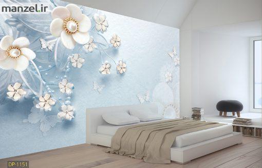 پوستر دیواری گل سه بعدی DP-1151