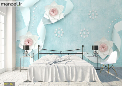 پوستر دیواری گل و نوار کاغذی DP-1166