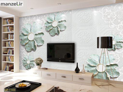 پوستر دیواری گل آبی DP-1169