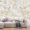 پوستر دیواری پروانه و گل آبی فانتزی DP-1170