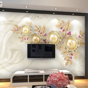 پوستر دیواری گل و مروارید DP-1187
