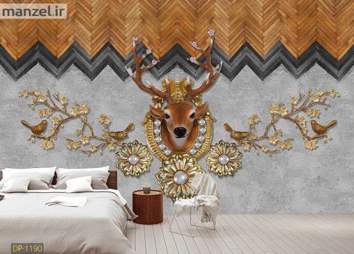 پوستر دیواری هنری طرح گوزن DP-1190