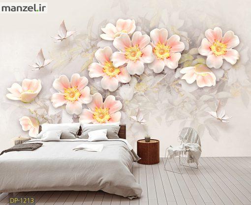 پوستر دیواری گل و پروانه DP-1213