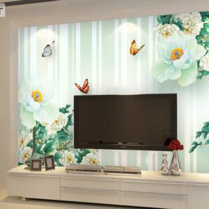 پوستر دیواری گل و پروانه DP-1217