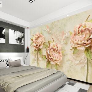 پوستر دیواری گل و پرنده DP-1218