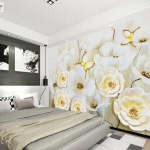 پوستر دیواری گل و پروانه DP-1222