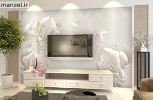 پوستر دیواری گل و پرنده DP-1226