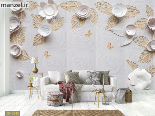 پوستر دیواری گل کاغذی DP-1245