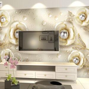 پوستر دیواری گل و مروارید DP-1272