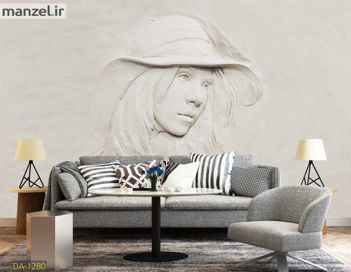 پوستر دیواری گچبری چهره DA-1280