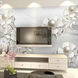 پوستر دیواری گل و مروارید DP-1281