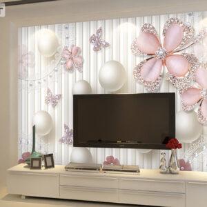 پوستر دیواری گل و مروارید DP-1286