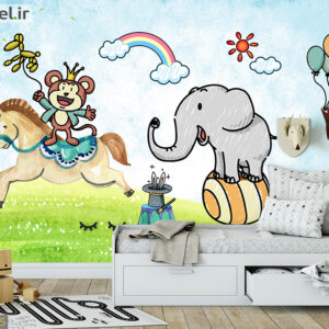 پوستر دیواری حیوانات کارتونی DP-1305