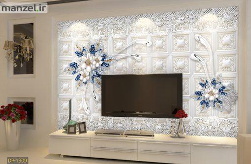 پوستر دیواری گل های لاکچری DP-1309