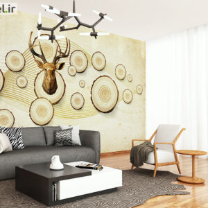 پوستر دیواری گوزن و چوب DP-1316