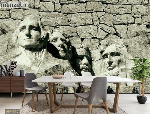 پوستر دیواری چهره سنگی DP-1317