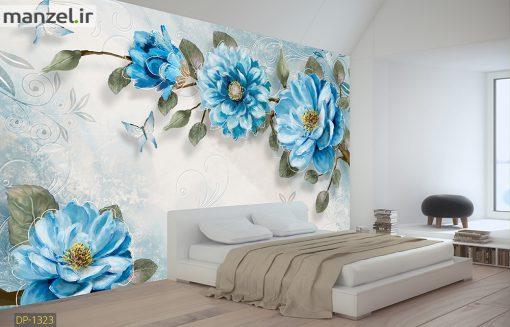 پوستر دیواری گل آبی DP-1323