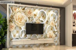 پوستر دیواری گل وحلقه DP-1324