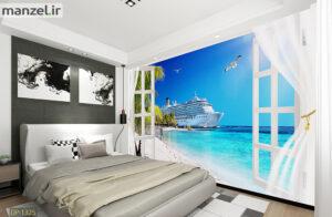 پوستر دیواری دریا و ساحل DP-1325