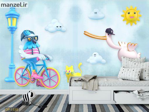 پوستر دیواری پرندگان کارتونی DP-1338