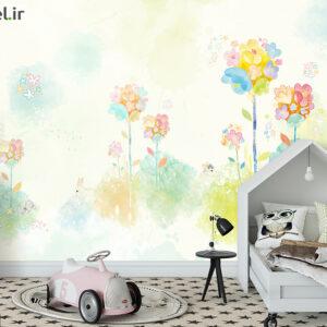 پوستر دیواری گل آبرنگی DP-1348