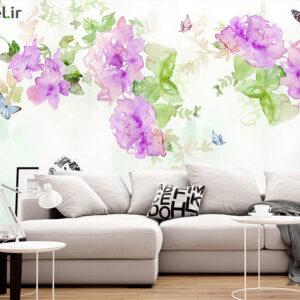 پوستر دیواری گل آبرنگی DP-1355